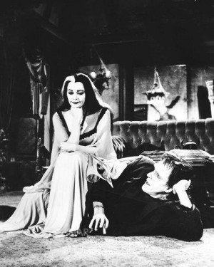 ... .com/post/33369374302/gothicrealm-lily-munster-and-herman-munster