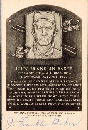 Frank Home Run Baker Baseball Card