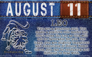 August 11 Birthday Horoscope Personality