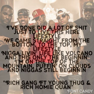 ... Gang Ft, Quan Reayln, Young Thug, Rich Homie Quan, Ft Young, Rich Gang