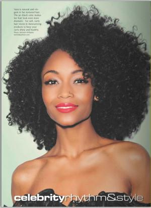 Yaya DaCosta Natural Hair Hype Magazine