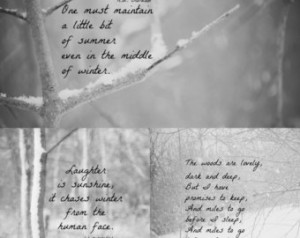 winter quotes snow photography art prints collage black white robert ...