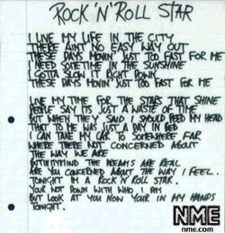 lyrics for 'rock'n'roll star', taken from noel gallagher's ...