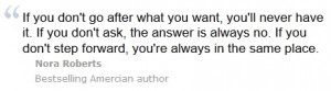 Nora Roberts Quote.