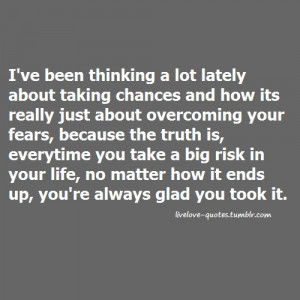 taking chances in life