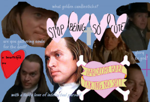 made a collage for reverend hale (the crucible)