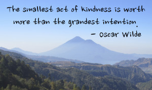 Today, why don't you do a small act of kindness to a random stranger ...