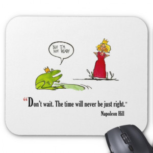 Exam motivational quote by Napoleon Hill - Mouse Mats