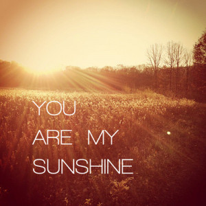 You are my sunshine sweet love quotes