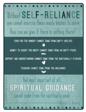 Young Women Lesson 11: Growing and Maturing in Self-reliance, Part 1