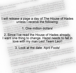House of Hades Page