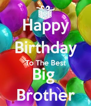 Happy Birthday Big Brother
