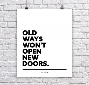 Old and New ways of Life Inspirational Quotes Print Poster For Wall ...