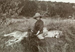 Karen Blixen boede i Afrika, og holdt af at gå på jagt.