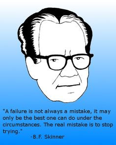 ... it may only be the best one can do under the circumstances b f skinner