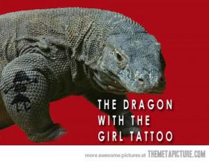 Funny photos funny dragon girl tattoo