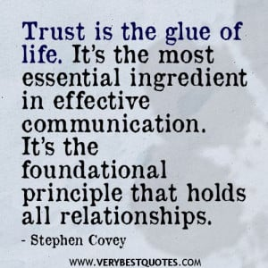 ... principle that holds all relationships. stephen Covey Quotes