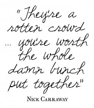 Nick Carraway Great Gatsby Quotes Nick carraway (tobey maguire)