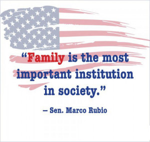 Rubio Quote on Family