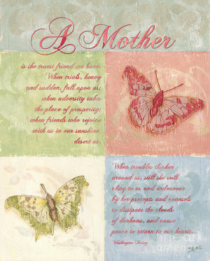 Mothers Day Butterfly Card Painting - Mothers Day Butterfly Card Fine ...