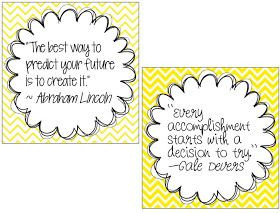Busy Bee Speech: Quote Posters Freebie!