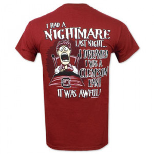 South Carolina Gamecocks Nightmare T-Shirt -Garnet