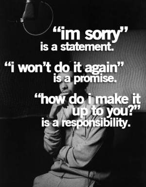 Good lesson for kids! A true apology has three parts: I'm sorry. It ...