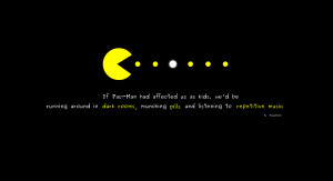 Video Game - Pac-man Pacman Quote Logo Brigstocke Wallpaper