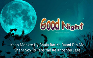 Sad Good Night SMS For Lover In Urdu And Hindi 2013