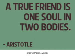 true friend is one soul in two bodies Aristotle friendship quote