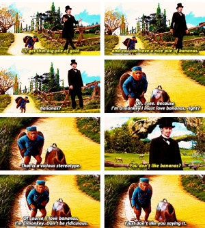 Oz the Great and Powerful- one of my many favorite parts :)
