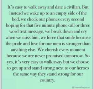 Navy Girlfriends, Military Spouse, Deployment Quotes, Military Quotes ...