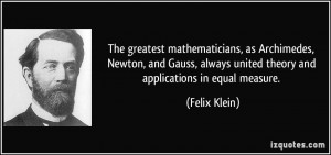 More Felix Klein Quotes