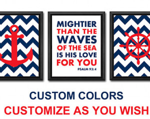 nautical bible quotes nursery chevr on anchor kids wall art baptism ...
