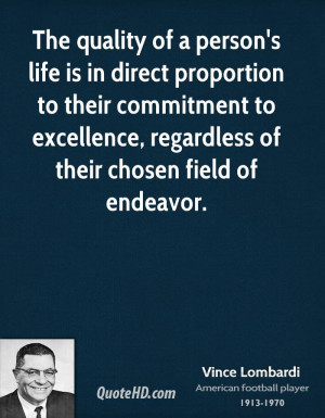 ... commitment to excellence, regardless of their chosen field of endeavor