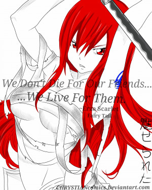 Anime Quotes #3 Fairy Tail: Erza Scarlet by CHRYSTIANcomics