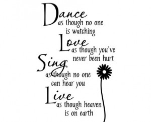 From $15 for a Dance Quote Wall Decal In Black or White