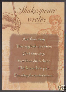 WILLIAM-SHAKESPEARE-Sonnet-97-Quote-Birds-are-Mute-GREETING-NOTE-CARD ...