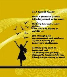 touching poem for teacher on Teachers' Day. More