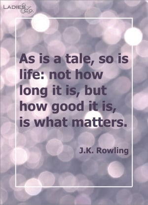 What really matters.. J K Rowling #quote