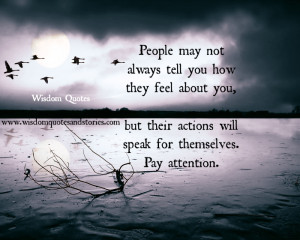 Pay attention to people actions