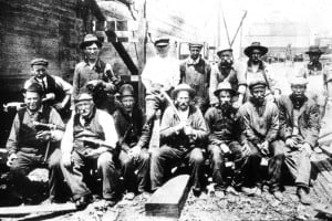 Erie Canal workers ----- | start | >>>>