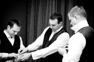 Grab a photo of the groom getting ready with his groomsmen: Pictures ...