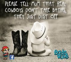 Cowboy Sayings For Kids Little boy quote - cowboys