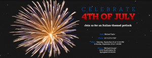 Party in the USA with 4th of July Invitations from Evite