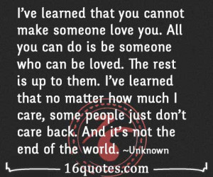 people just don't care back quote