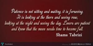 Shams Tabrizi Quotes