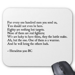 Heraclitus Quote Mouse Pad