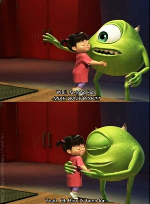 boo, cute, disney, love, monster, monsters, monsters inc, pixar, quote ...