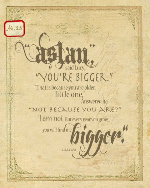 Aslan Art Print, C.S. Lewis Typography, Quote Art, Chronicles of ...